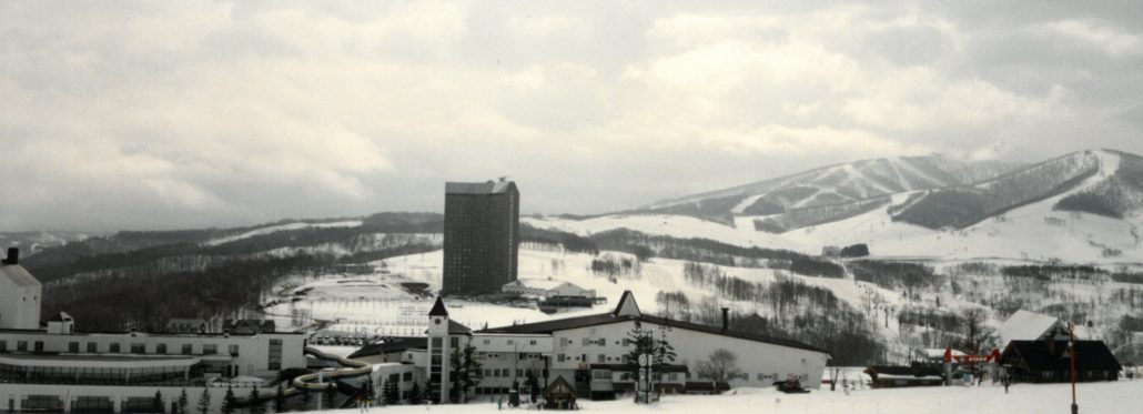 The early days of Rusutsu Resort in the wintertime