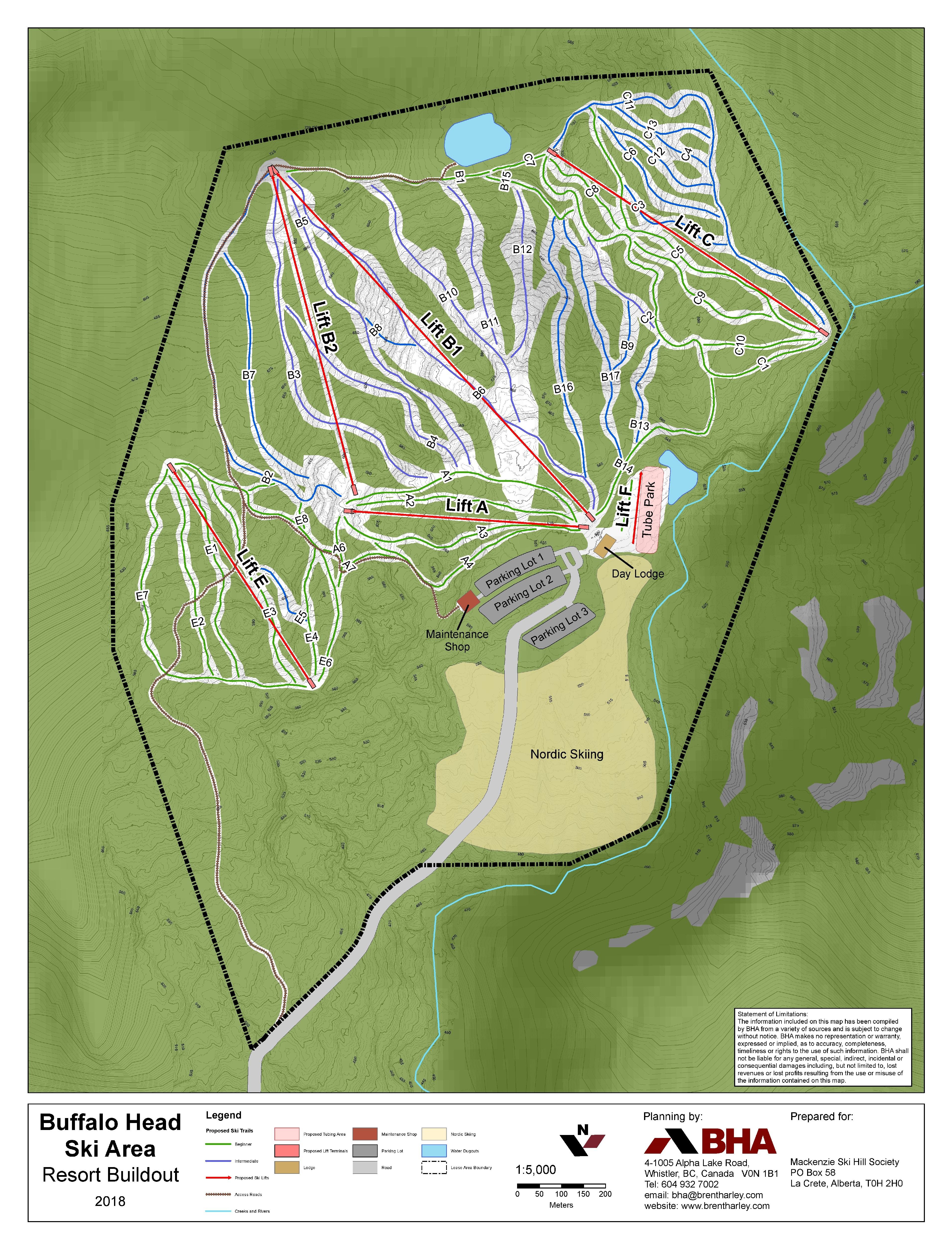 Buffalo Head Ski Area, Alberta, Canada - BHA Ski Area Lifts and Trails Planning and Design
