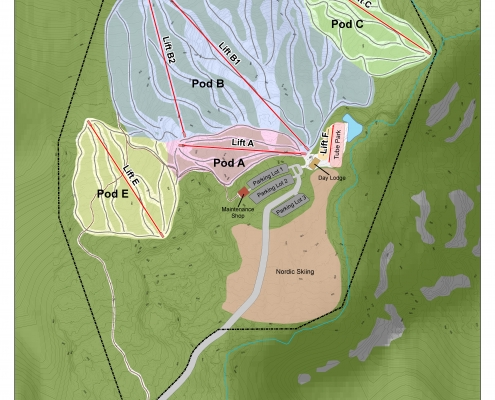 Buffalo Head Ski Area Ski Pod Terrain Analysis and Suitability, Alberta, Canada - BHA Ski Area Lifts and Trails Planning and Design